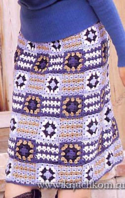 Юбка крючком - схемы вязания