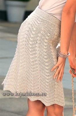 Вязание юбки для женщин