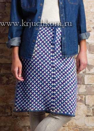 Схемы для вязания зимней юбки