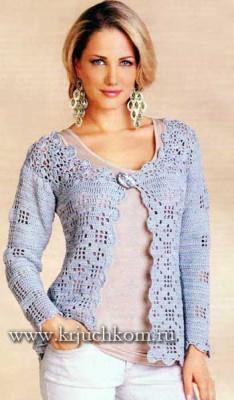 Вязание кофты для женщин