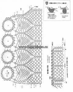 Вязание крючком схемы ажурной кофточки