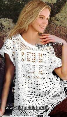 Вязание крючком модной кофточки для женщин на лето 2017