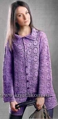 Вязаное пальто для женщин схемы