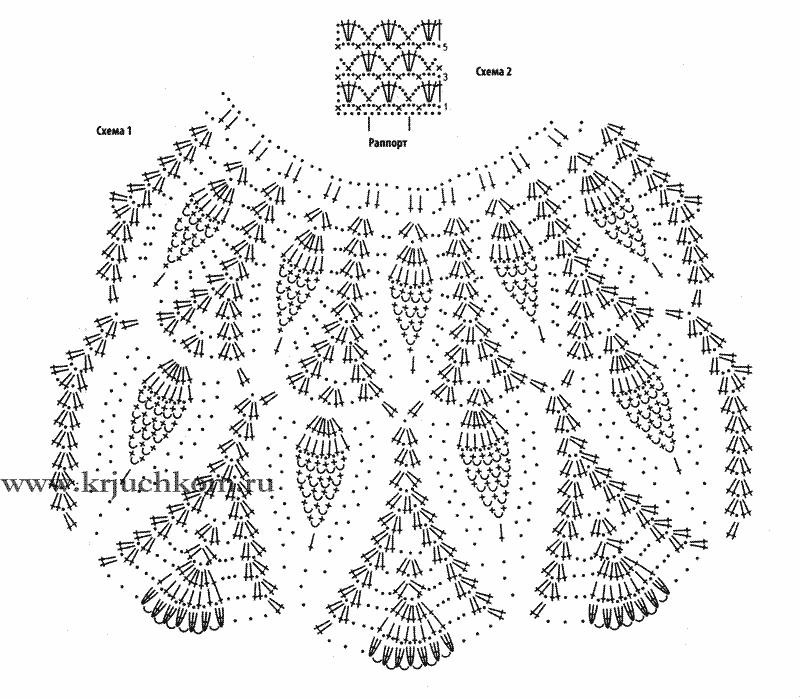Детское платье ананасами крючком схемы и описание