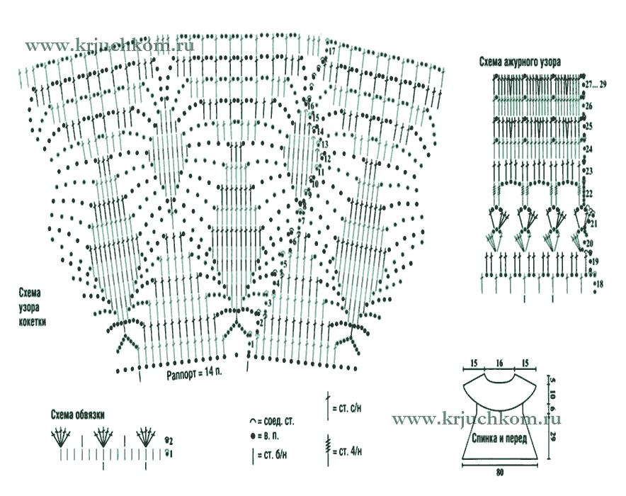 Схемы вязания крючком детского