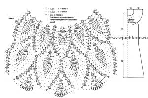 Схема вязания узора ананасы