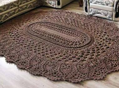 коврик крючком схема вязания бесплатно
