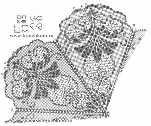 Схема вязания филейной салфетки