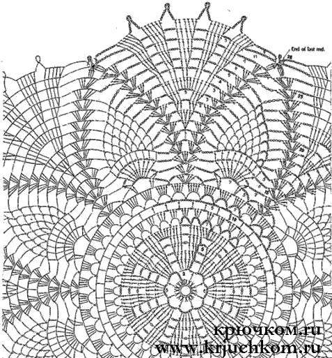Вязание крючком салфетки коврики схемы 26