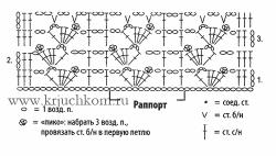схемы вязания крючком шарфа
