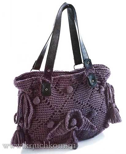 Элегантная вязаная сумка крючком