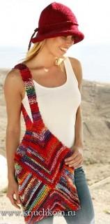 Вязание женской сумки крючком со схемами