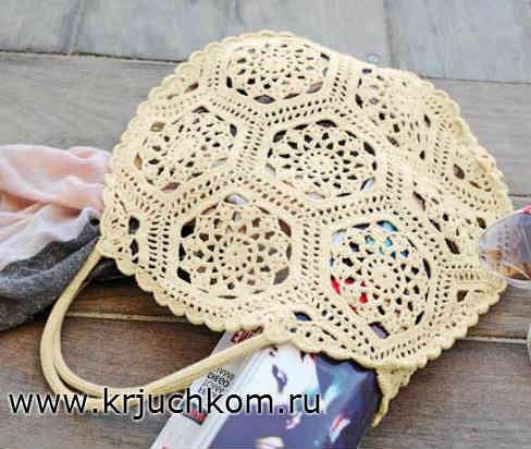 Вязание сумки крючком. Описание и схемы вязания
