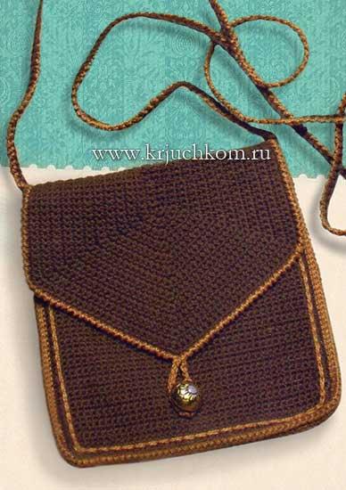 вяжем крючком маленькую сумочку