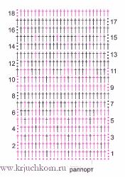 Жаккардовые узоры крючком схемы