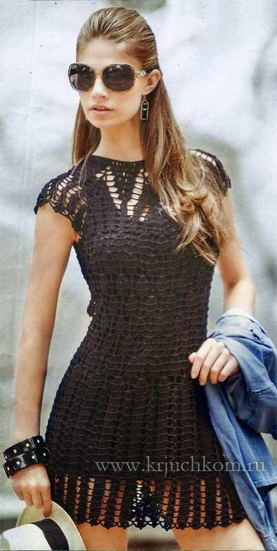 Платье крючком женское с подробнейшим описанием