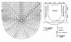 Схемы вязания жилета крючком для начинающих