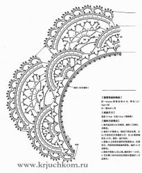 вязаный воротничок крючком схемы