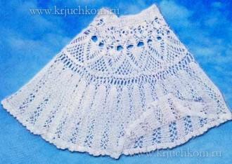 Летняя вязаная юбка крючком
