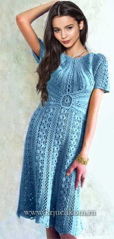 Платье крючком для женщин со схемами