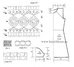 Схемы вязания крючком платья для женщин