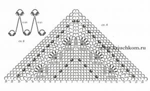 Схема крючком для шали