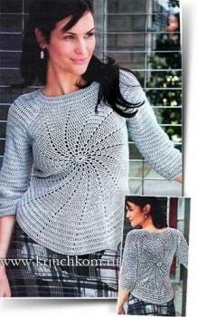 Стильный вязаный свитер для женщин
