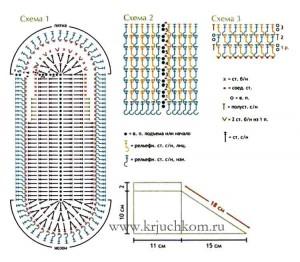 Тапочки крючком схемы вязания