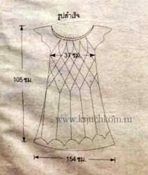 Вязаное платье крючком - выкройка