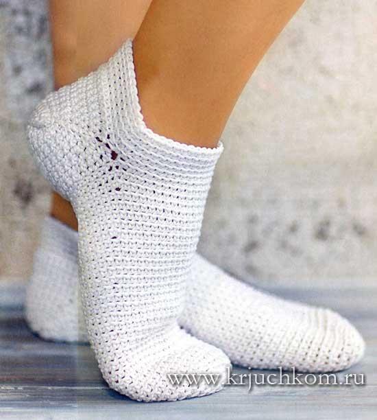 Подробное описание и схема вязания носок 62