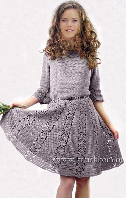 Новые вязаные платья крючком