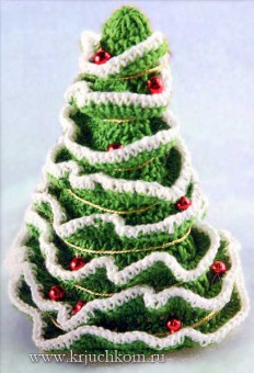 новогодняя елка крючком