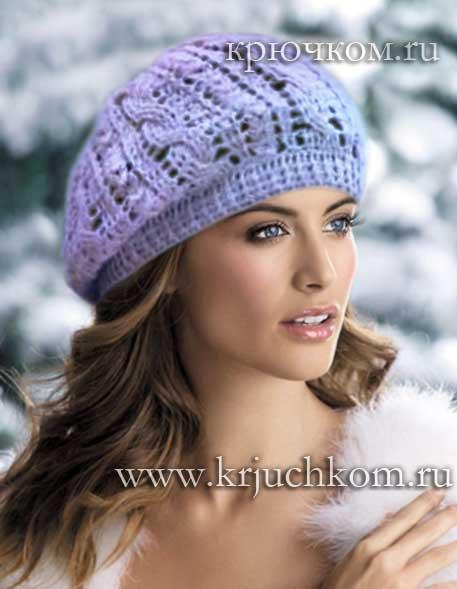 Вязаные шапки для женщин. Схемы вязания 100 18
