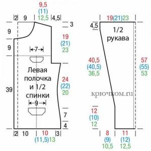 Модная модель вязаного жакета крючком 2016-2017 выкройка