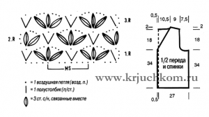 жилет связанный крючком схемы вязания крючком