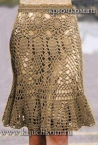 юбки крючком схемы вязания описания и фото модные модели для женщин