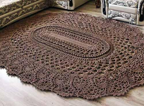 как связать круглый коврик крючком схема вязания круглого коврика