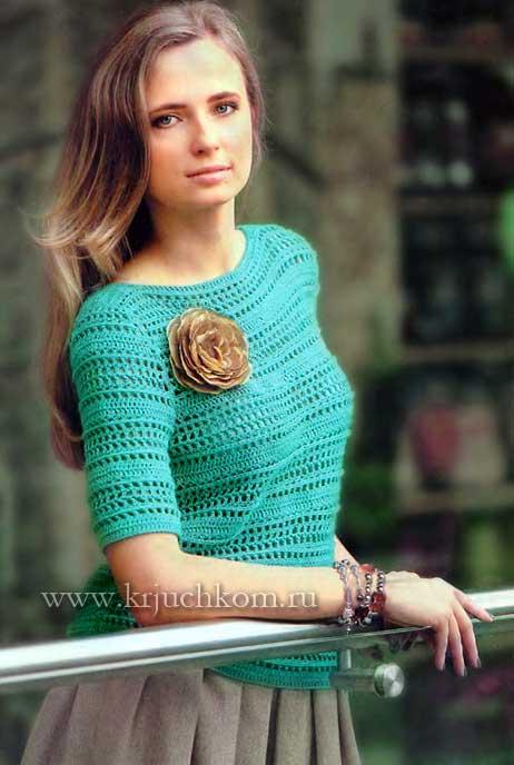 996e69969df Вязаный пуловер схема и описание. Вязаные пуловеры