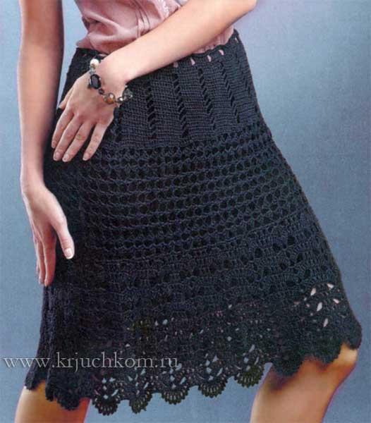 6ef2321461d Ажурная вязаная юбка крючком